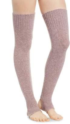 Lemon Stirrup Leg Warmers