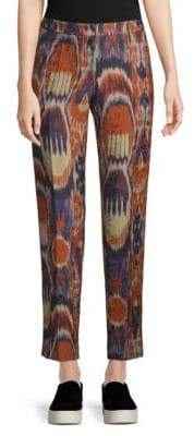 Dries Van Noten Ikat Print Ankle-Length Pants