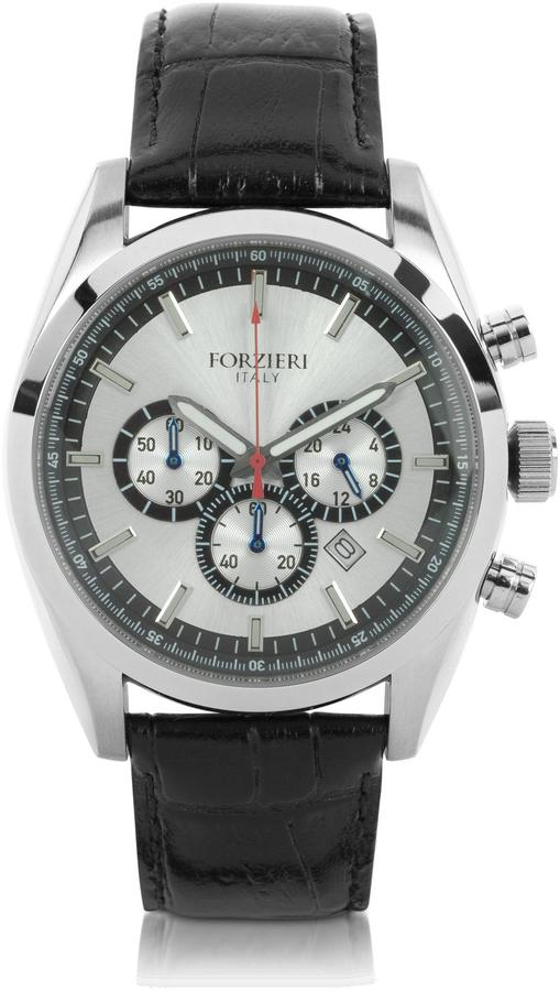 Forzieri Spider - Men's Stainless Steel Silver Dial Chronograph Watch