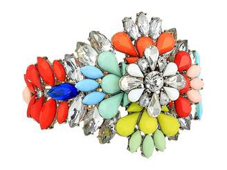 Steve Madden Floral Jeweled Cuff Bangle