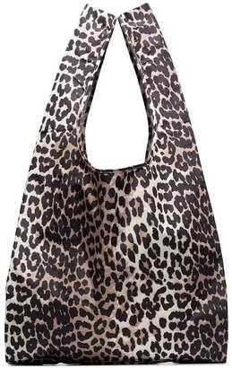 Ganni Fairmont leopard print shopper