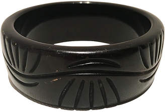 One Kings Lane Vintage 1930'S Carved Bakelite Bangle Bracelet - Jacki Mallick Designs