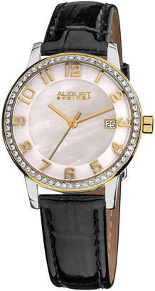 August Steiner Womens Black Strap Watch-As-8056yg