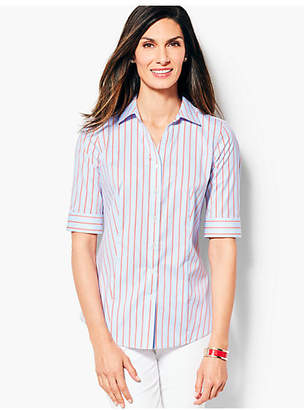 Talbots The Perfect Elbow-Sleeve Shirt -Stripe
