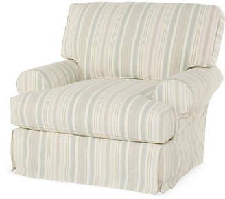 Comfy Slipcovered Club Chair - Natural Stripe - Rachel Ashwell