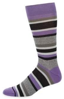 Saks Fifth Avenue Jasper Tonal Striped Crew Socks