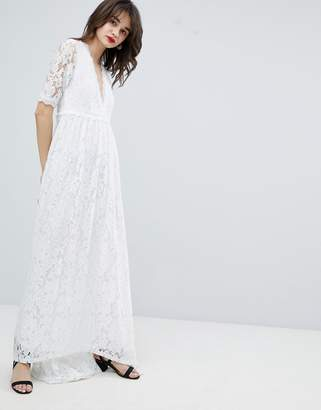 Vero Moda Lace Maxi Dress With Dip Hem