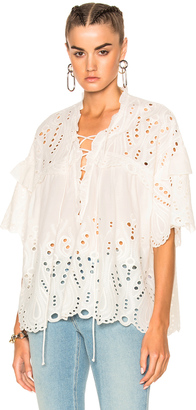 IRO Elyor Ruffle Top $391 thestylecure.com