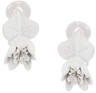 Oscar de la Renta painted ivy button earrings