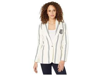Lauren Ralph Lauren Bullion-Patch Striped Blazer