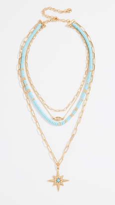 BaubleBar Beaded Star Pendant Necklace