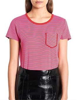 Marcs Women Stripe Pocket Tee