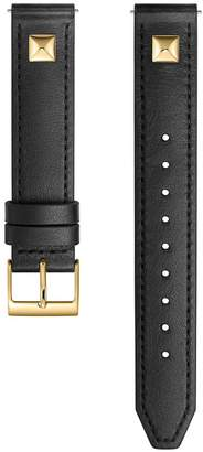 Rebecca Minkoff Gold Tone Pyramid Stud Leather Guitar Strap, 16Mm