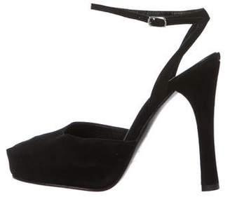 Casadei Suede Ankle Strap Sandals