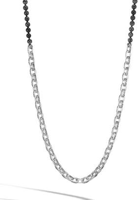 John Hardy Men's Classic Chain Link Necklace w/ Onyx Beads, 28""