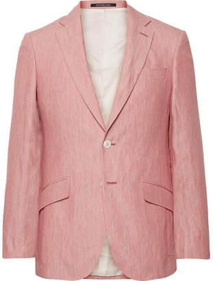 Richard James Coral Seishen Slim-Fit Linen Suit Jacket