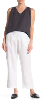 Jarbo Cropped Pull-On Linen Pants