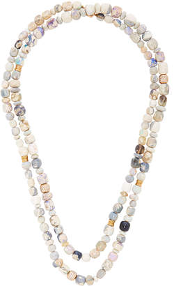 Mimi So Layered 18K Rose Gold Opal and Diamond Necklace
