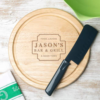 Dust and Things His Bar And Grill Wooden Chopping Board