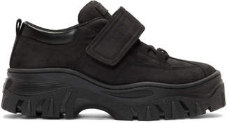 MSGM Black Suede Strap Chunky Double Sole Sneakers