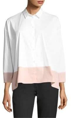 Piazza Sempione Contrast Hem Button-Down Shirt