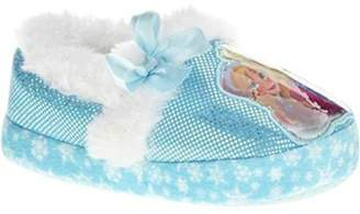 Disney Frozen Toddler and Girls Cushioned Sparkle Slippers with Fur Trim (13/1 - XXL, )