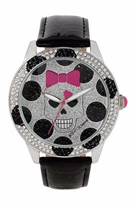 Betsey Johnson (ベッツィ ジョンソン) - Betsey Johnson Skull Faceクリスタルブラックバンド腕時計bj000560 – 03