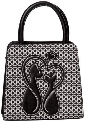At Canada Retro Vintage Gothic Cat Handbag From Banned Arel