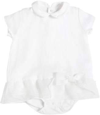 La Perla Linen Bodysuit W/ Bow Appliqué
