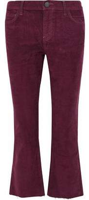 Current/Elliott The Kick Jean Cropped Cotton-Blend Corduroy Bootcut Pants