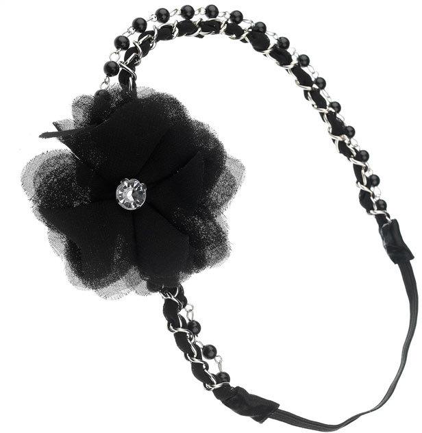 Flower net headband