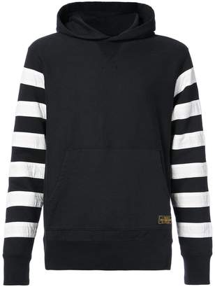 Neighborhood Racing Team striped sleeve hoodie