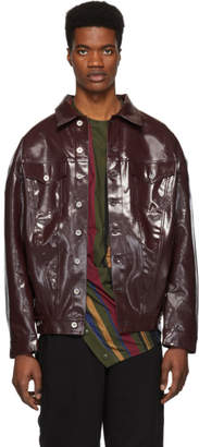Diesel Red Tag Brown Glenn Martens Edition Coated Denim Jacket