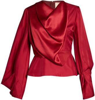 Roksanda Voru origami-sleeved draped top