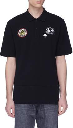 McQ Monster appliqué polo shirt
