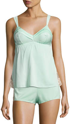 Ella Moss Underella By Lace-Inset Babydoll Tank, Light Green