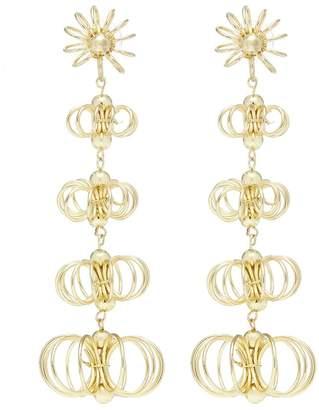Kenneth Jay Lane Floral wire drop earrings