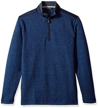 Bugatchi Men's Cotton Long Sleeve Half Zip Knits