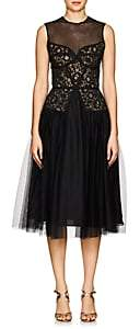 Sophia Kah Women's Lace & Tulle Cocktail Dress - Black