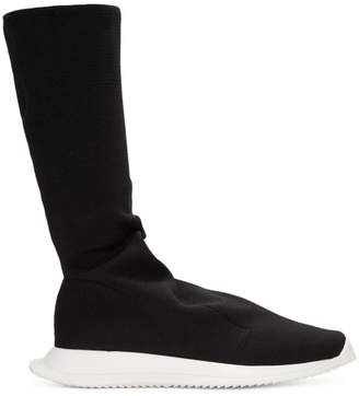 Rick Owens Black Runner Stretch Sock Sneakers