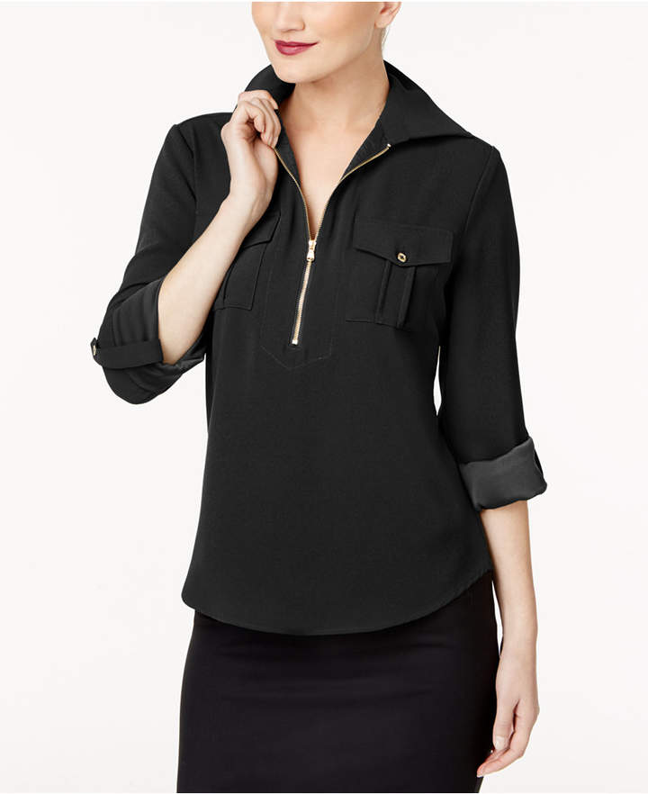 Trina Turk Zip-Front Utility Shirt