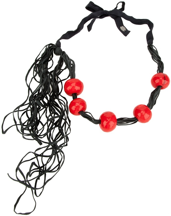 Maria Calderara paper bead necklace
