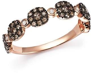 Bloomingdale's Brown and White Diamond Micro Pavé Stacking Band in 14K Rose Gold - 100% Exclusive