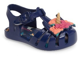 Toddler Girl's Mini Melissa Aranha Fabula Unicorn Sandal $64.95 thestylecure.com