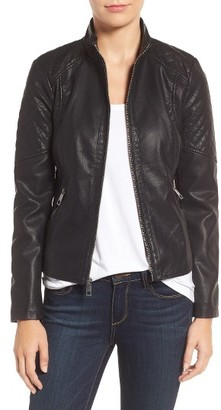 Women's Guess Faux Leather Jacket $150 thestylecure.com