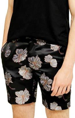 Topman Mono Floral Classic Shorts