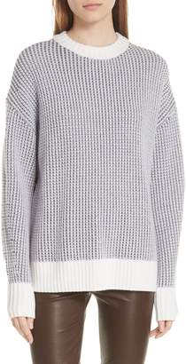 Jason Wu GREY Fair Isle Back Merino Wool Sweater