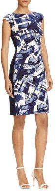 Lauren Ralph Lauren Cap Sleeve Jersey Sheath Dress $135 thestylecure.com