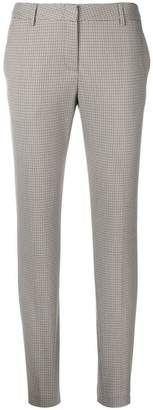 Tonello tapered houndstooth patterned trousers