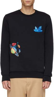 Paul Smith 'Explorer' mix motif embroidered sweatshirt